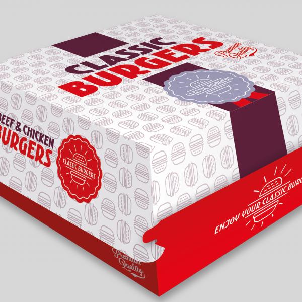 Hamburger verpakkingen
