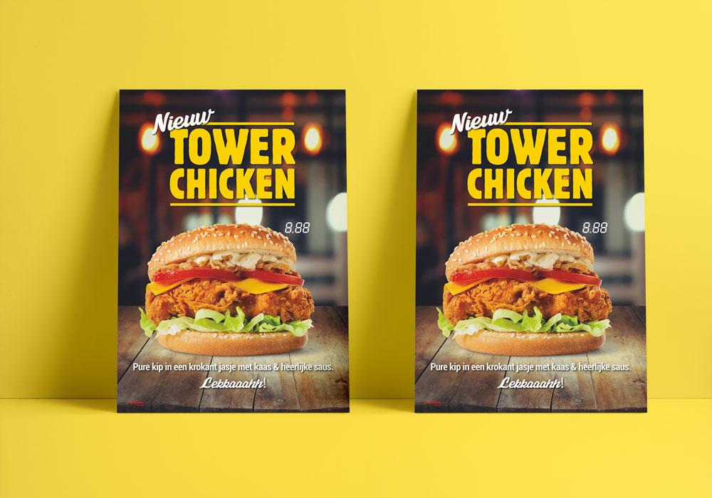 Tower Chicken Poster